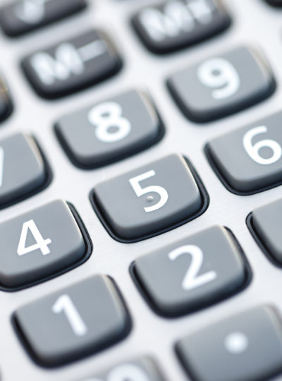 Close-up view of a Calculator