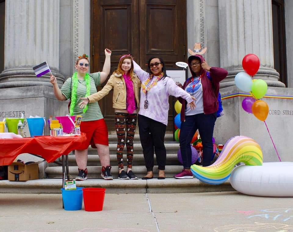 Students celebrate Pride Day at NEC's Manchester campus